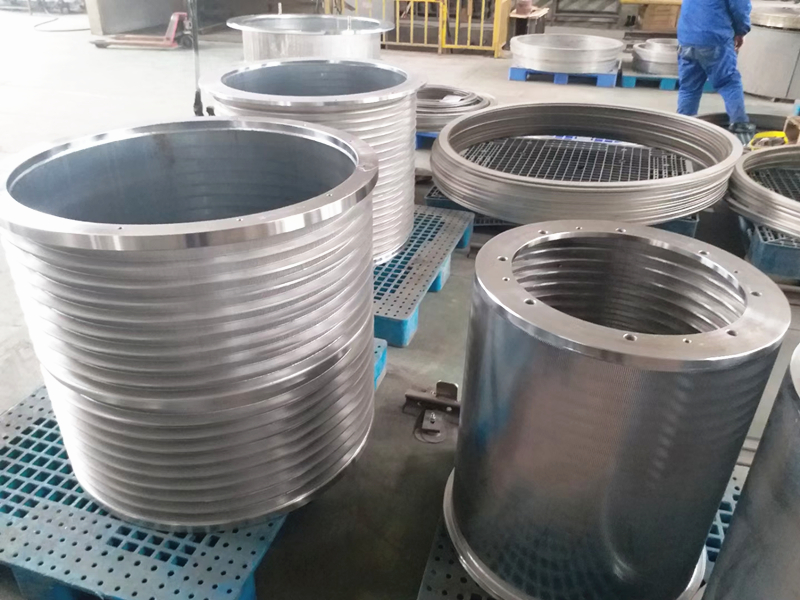 Wedge wire rotary drum screen to Russia