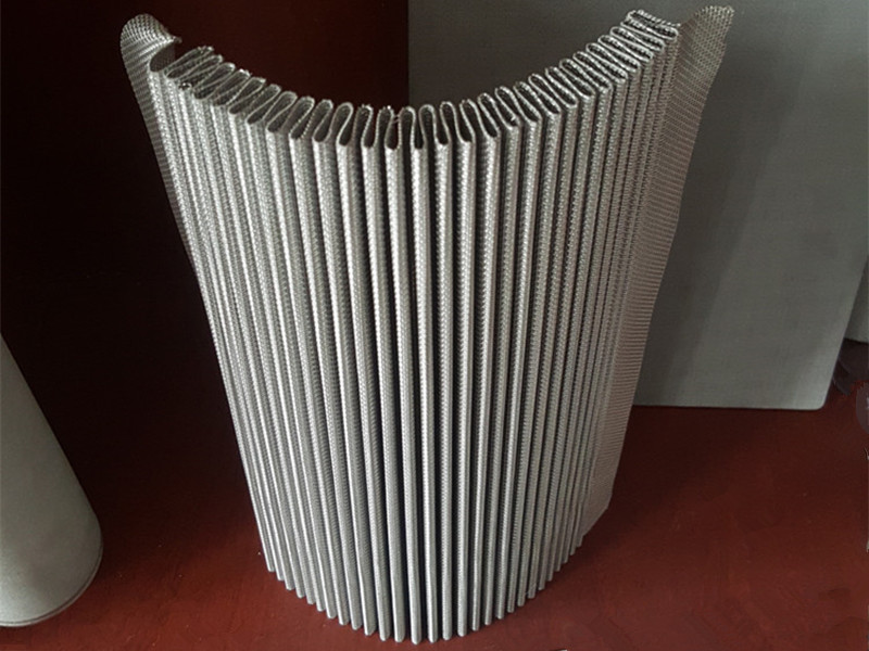 Stainless Steel Pleated Wire Mesh