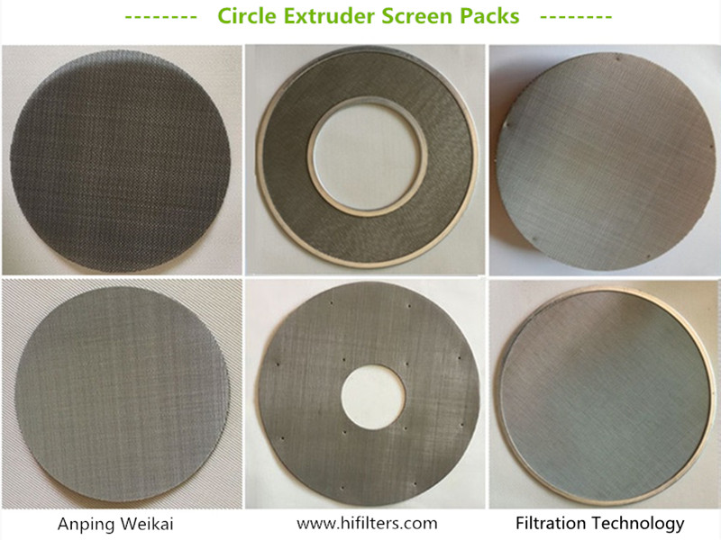 Circle Extruder Screen Pack